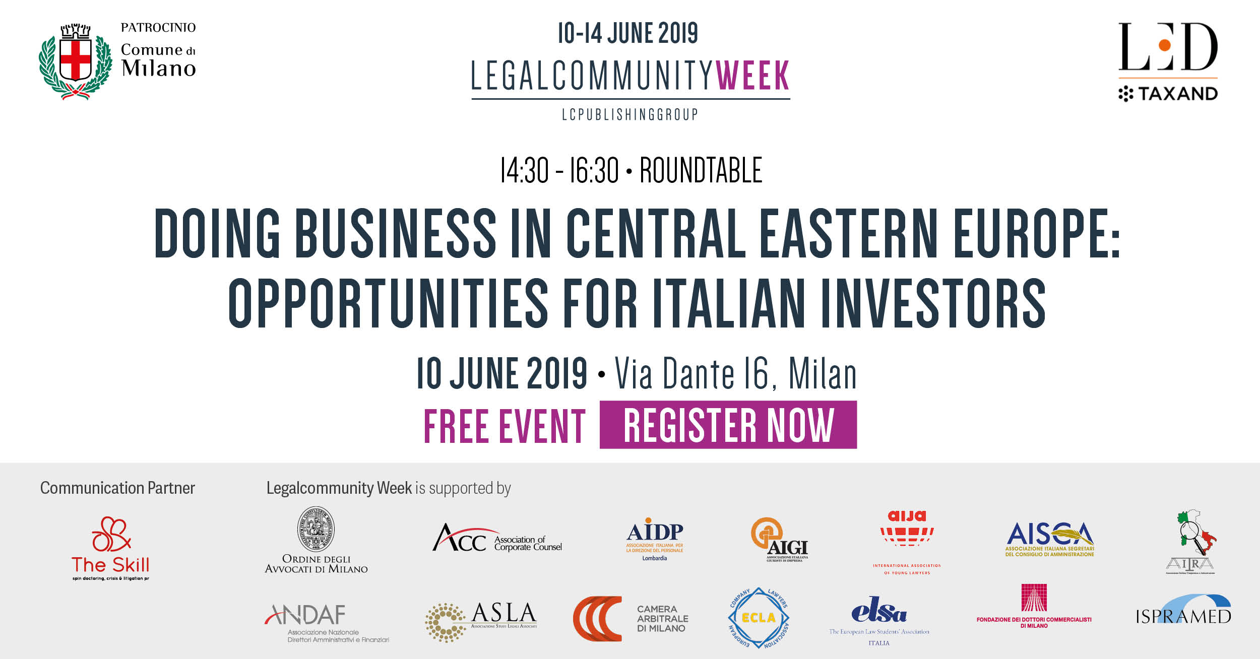 """Roundtable """"Doing business in Central Eastern Europe: opportunities for Italian investors"""""""