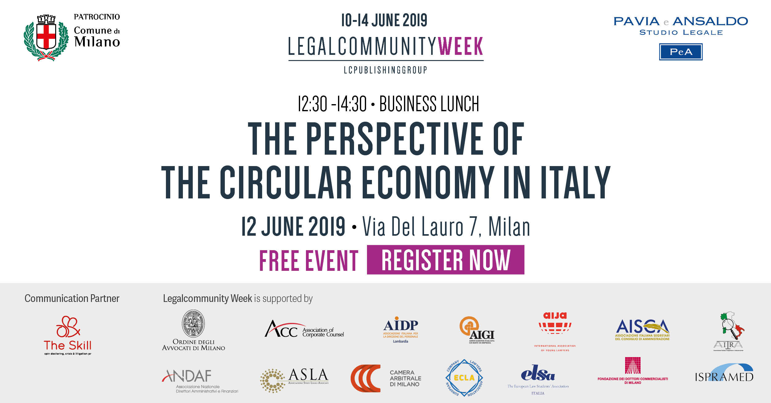 """Business lunch: """"The perspective of the circular economy in Italy"""""""