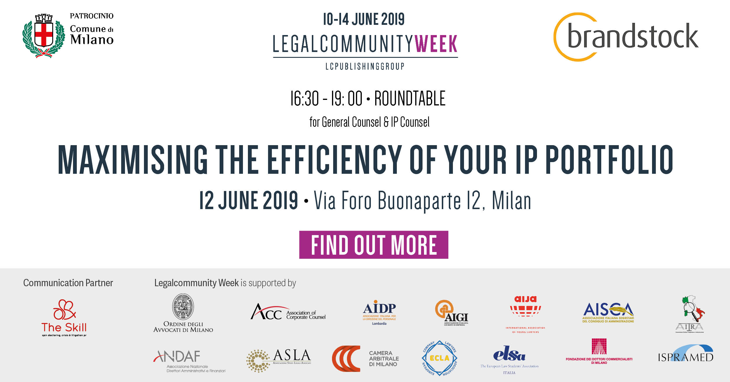 "Roundtable for General Counsel & IP Counsel: ""Maximising the efficiency of your IP portfolio"""
