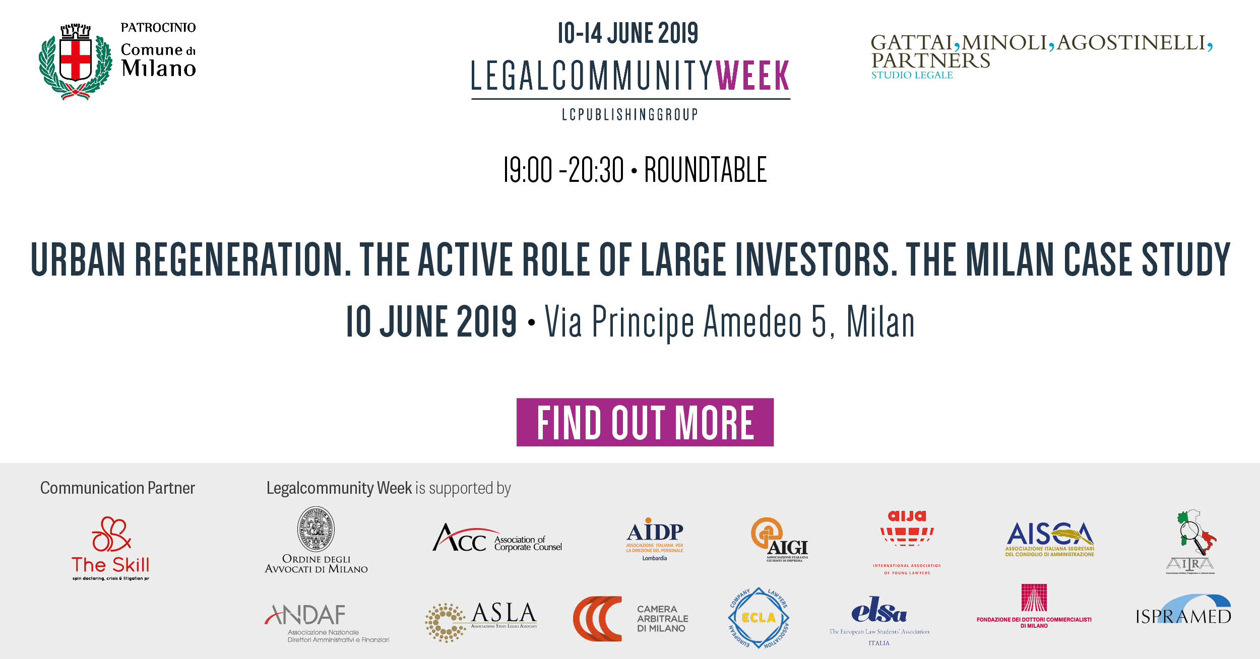 "ROUNDTABLE ""Urban regeneration. The active role of large investors. The Milan case study"""